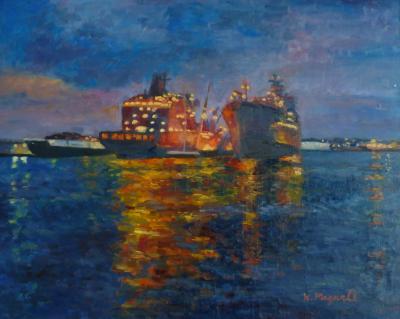 Ships at Dusk